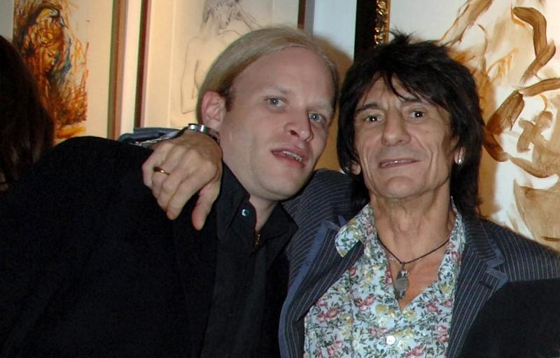 Jamie Wood with Rolling Stones rocker dad Ronnie Wood in 2007 (Getty Images)