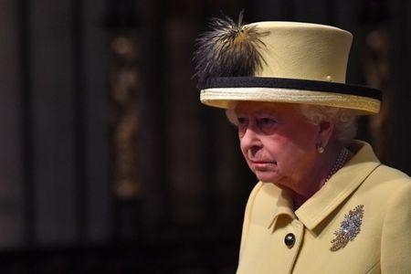 Britain's Queen Elizabeth II attends a Commonwealth Day Service at Westminster Abbey in  London