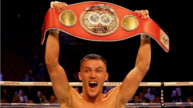 Josh Warrington could fight Can Xu or Shakur Stevenson in 2020 after another successful IBF featherweight title defence in Leeds.