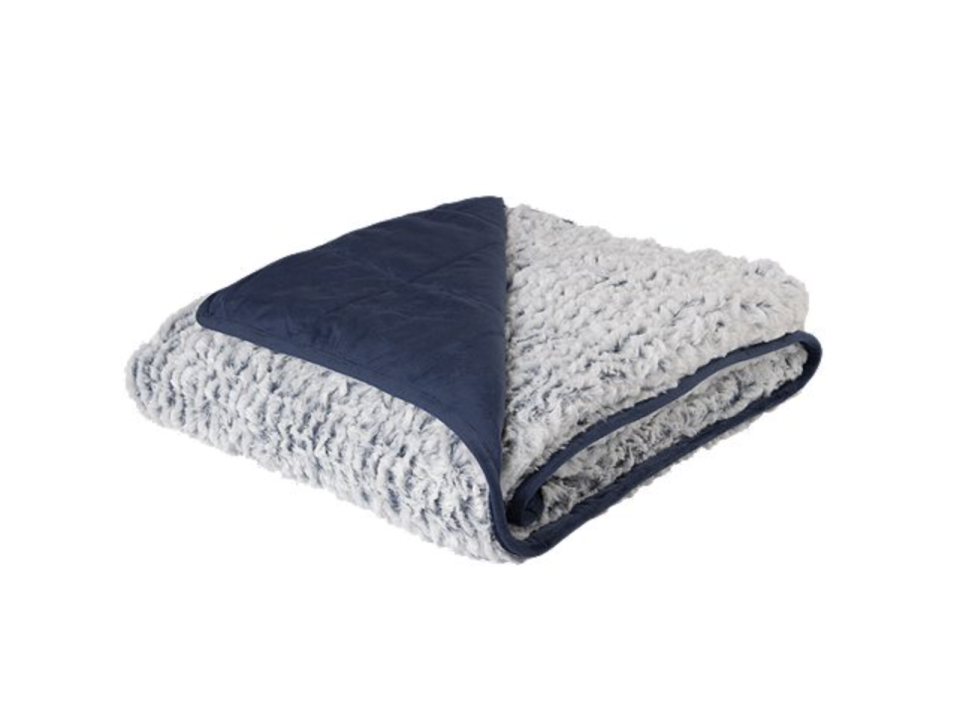 Pur Serenity Reversible Faux fur to Mink 15lb Weighted Blanket is on sale at Sport Chek, $75 (originally $150).