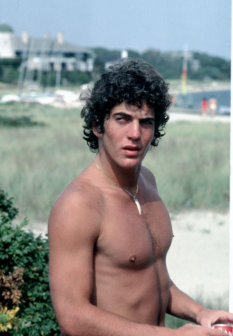 <p>John Kennedy Jr. at the Kennedy home in Hyannis Port, during Labor Day weekend. </p>