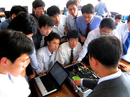 Students of Pyongyang University of Science and Technology (PUST) attend a class at PUST in Pyongyang, North Korea, in this undated picture provided by Yu-Taik Chon, president of Pyongyang University of Science and Technology (PUST) on June 18, 2018.    Yu-Taik Chon/Handout via REUTERS
