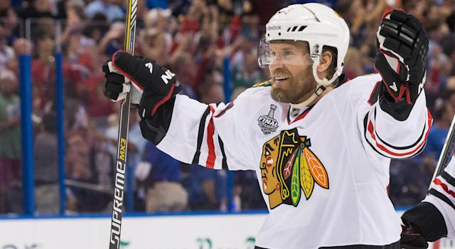 While he wasn't as productive as he once was, Kimmo Timonen finally got the story book ending he wanted with the Chicago Blackhawks. (Photo by Scott Audette/NHLI via Getty Images)