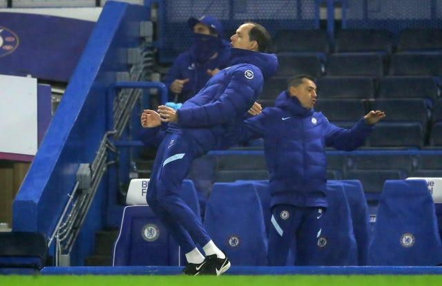 Chelsea manager Thomas Tuchel reacts to a missed chance
