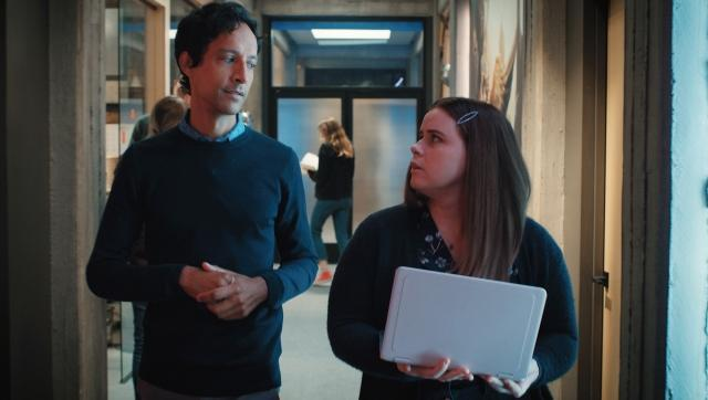 Danny Pudi and Jessie Ennis in Mythic Quest Season 2