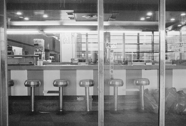 """<p>As the '70s went on, diners started to be <a href=""""http://dinerdon.com/history/index.html"""" rel=""""nofollow noopener"""" target=""""_blank"""" data-ylk=""""slk:replaced by fast food restaurants"""" class=""""link rapid-noclick-resp"""">replaced by fast food restaurants</a> that had cheaper, faster food. Many diners closed and few new ones opened. </p>"""