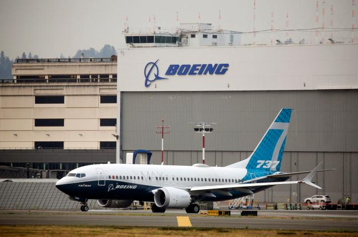 A Boeing 737 MAX airliner piloted by Federal Aviation Administration (FAA) Administrator Steve Dickson taxis for a two-hour evaluation flight at Boeing Field the in Seattle, Washington on September 30, 2020. Photo: Jason Redmond / AFP via Getty Image