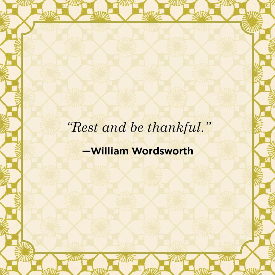 "<p>""Rest and be thankful.""</p>"