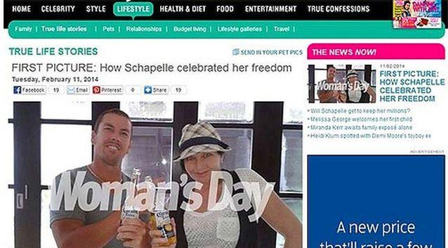 Woman's Day pulled the picture from their website amid confusion over who took, and who paid for the photo.