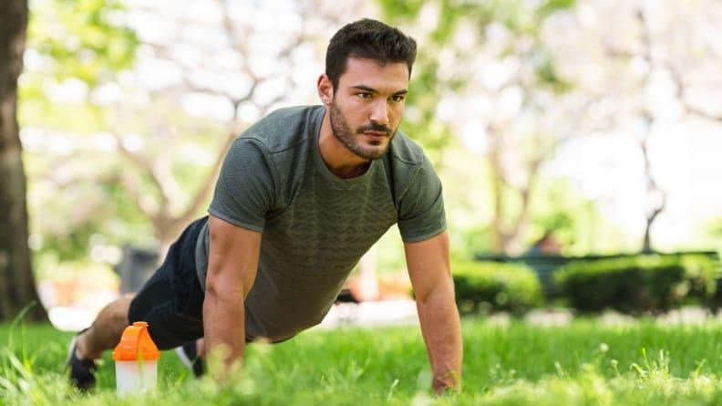 For an added challenge, try bodyweight exercises.