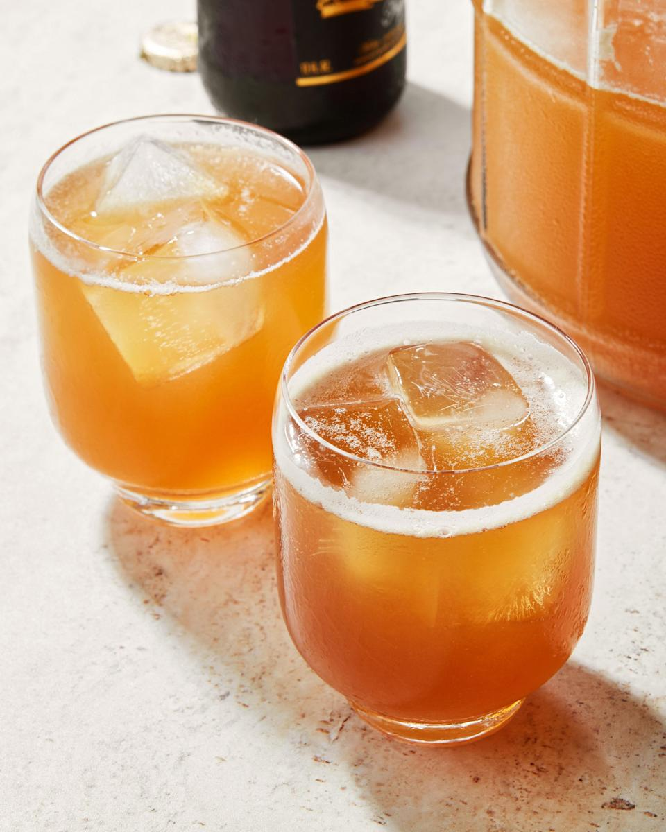 To serve tepache, you could simply pour it over ice—or you could treat tepache as you would a shrub.