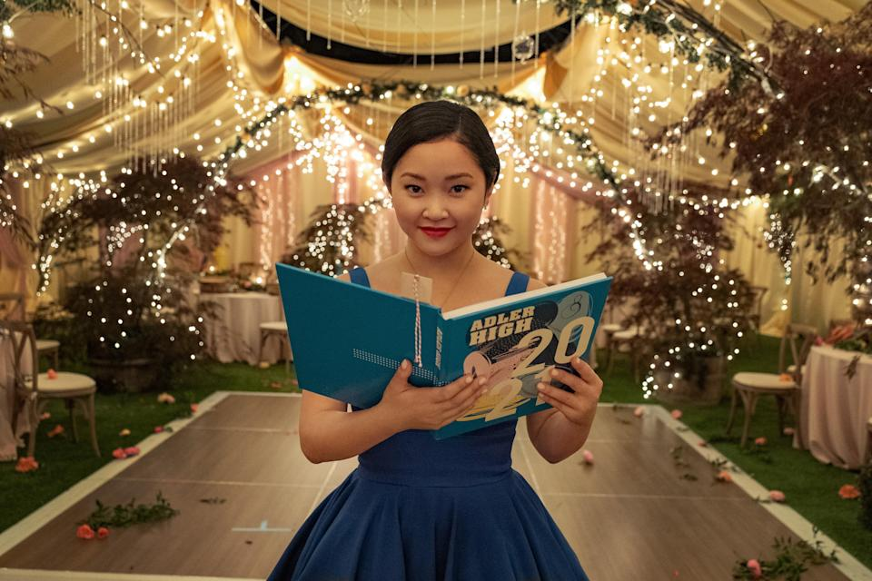 """<p>This sweet saga of young love comes to a satisfying end that sees Lara Jean off to college but still with the original """"boy"""" Peter Kavinsky. Like any good Y.A. heroine, she's learned some hard lessons along the way but never lost sight of what's important and always stayed true to her heart. As much as we're sad to see it go, at least <a href=""""https://www.glamour.com/story/to-all-the-boys-author-jenny-han-book-the-summer-i-turned-pretty-is-coming-to-tv?mbid=synd_yahoo_rss"""" rel=""""nofollow noopener"""" target=""""_blank"""" data-ylk=""""slk:another Jenny Han novel is being adapted"""" class=""""link rapid-noclick-resp"""">another Jenny Han novel is being adapted</a>!</p> <p><a href=""""https://cna.st/affiliate-link/2Z6F81fjBAMUbaw55t2E8q41eU5eDQYHEH5vMP7s8X5gXGxyxd3zMWPNSLVfSbD6S5rxYoM8tHFrPXwNpDWyZJRGExri?cid=601d4be8c0d7573862410cf1"""" rel=""""nofollow noopener"""" target=""""_blank"""" data-ylk=""""slk:Available to stream on Netflix"""" class=""""link rapid-noclick-resp""""><em>Available to stream on Netflix</em></a></p>"""