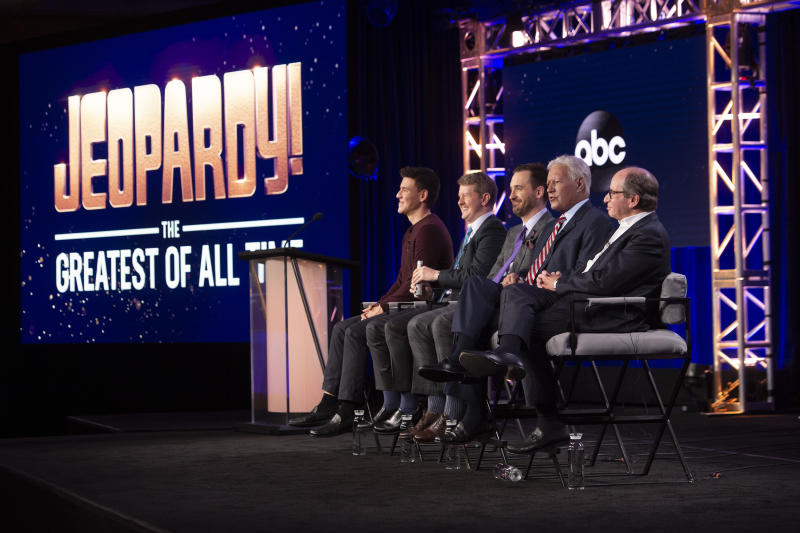 """Jeopardy: Greatest of All Time"" has viewership numbers that beat Monday Night Football, the World Series, and the NBA Finals. (Stewart Cook/ABC via Getty Images)"