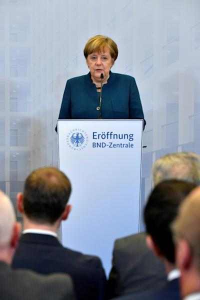 "Merkel said ""healthy mistrust"" of intelligence services is helpful, ""but being overly suspicious is a hindrance"""