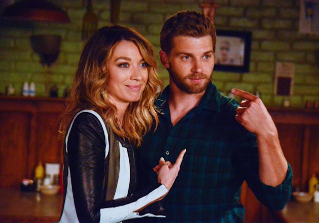 """The Fourth Hand"" - Big Jim and Barbie (Mike Vogel) discover their lives are more intertwined than they knew when a mysterious woman, Maxine (Natalie Zea), shows up unexpectedly in Chester's Mill, on ""Under the Dome."""