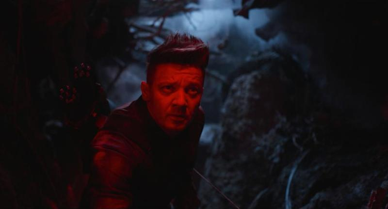 Hawkeye (Jeremy Renner) prepares to face some scary aliens in tight quarters. (Photo: Marvel Studios)