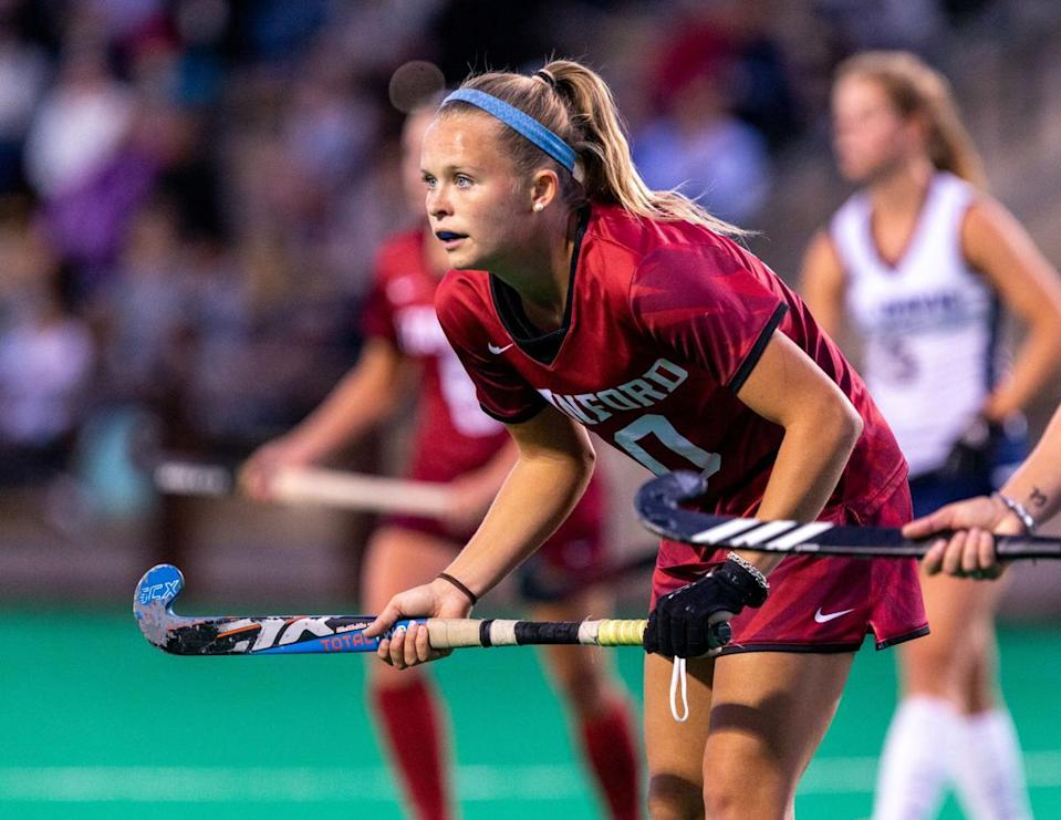 Field hockey star Corinne Zanolli scored the second-most goals in the NCAA in 2019 while playing for Stanford.