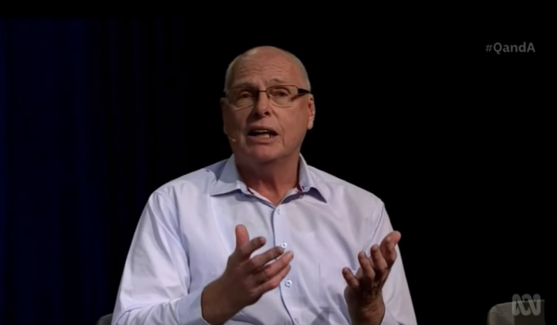 Jim Molan denying human-led climate change.