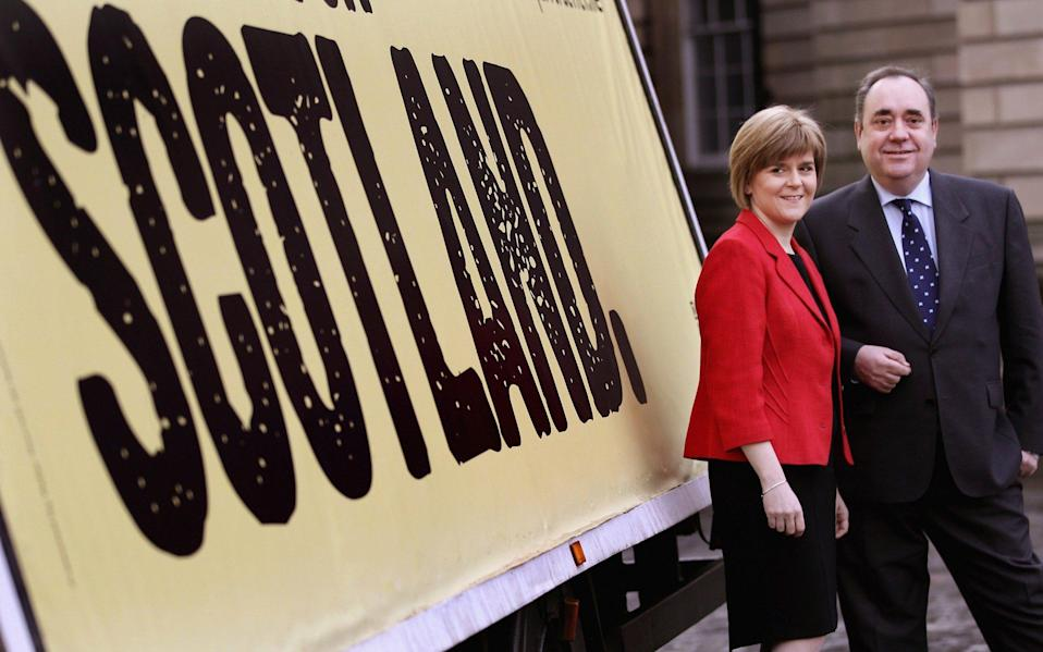 Alex Salmond and Nicola Sturgeon in 2011 - Jeff J Mitchell/Getty Images Europe