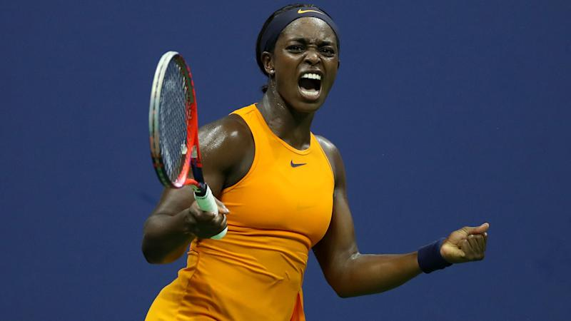 Defending champion Stephens knocked out of US Open last eight by Sevastova