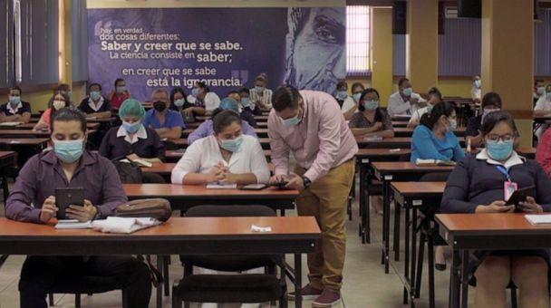 PHOTO: Healthcare workers in El Salvador receive training as part of the COVAX initiative, Feb. 23, 2021. (World Health Organization)