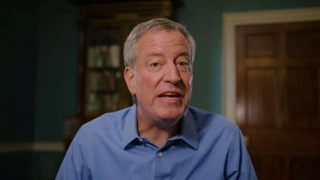 New York City Mayor Bill de Blasio announces his candidacy for the U.S. Democratic presidential nomination in this still image taken from a video released May 16, 2019.     Courtesy Bill de Blasio 2020/Handout via REUTERS