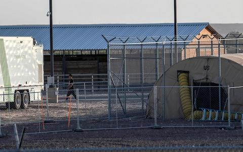 A temporary detention facility in Clint, Texas - Credit: AFP