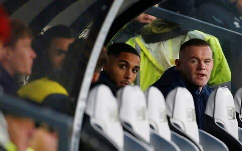 <span>Wayne Rooney has been present in the Derby dug-out for their past three games</span> <span>Credit: Action Images via Reuters </span>