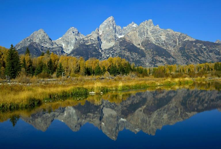 Usually held against the backdrop of the Teton Range, the annual Jackson Hole central banking symposium took place virtually this year (AFP/KAREN BLEIER)
