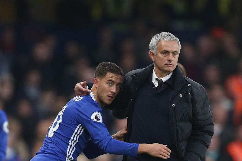 Eden's likely to be Mourinho's chief Hazard as Chelsea head to Manchester: Matthew Peters/Man Utd via Getty Images