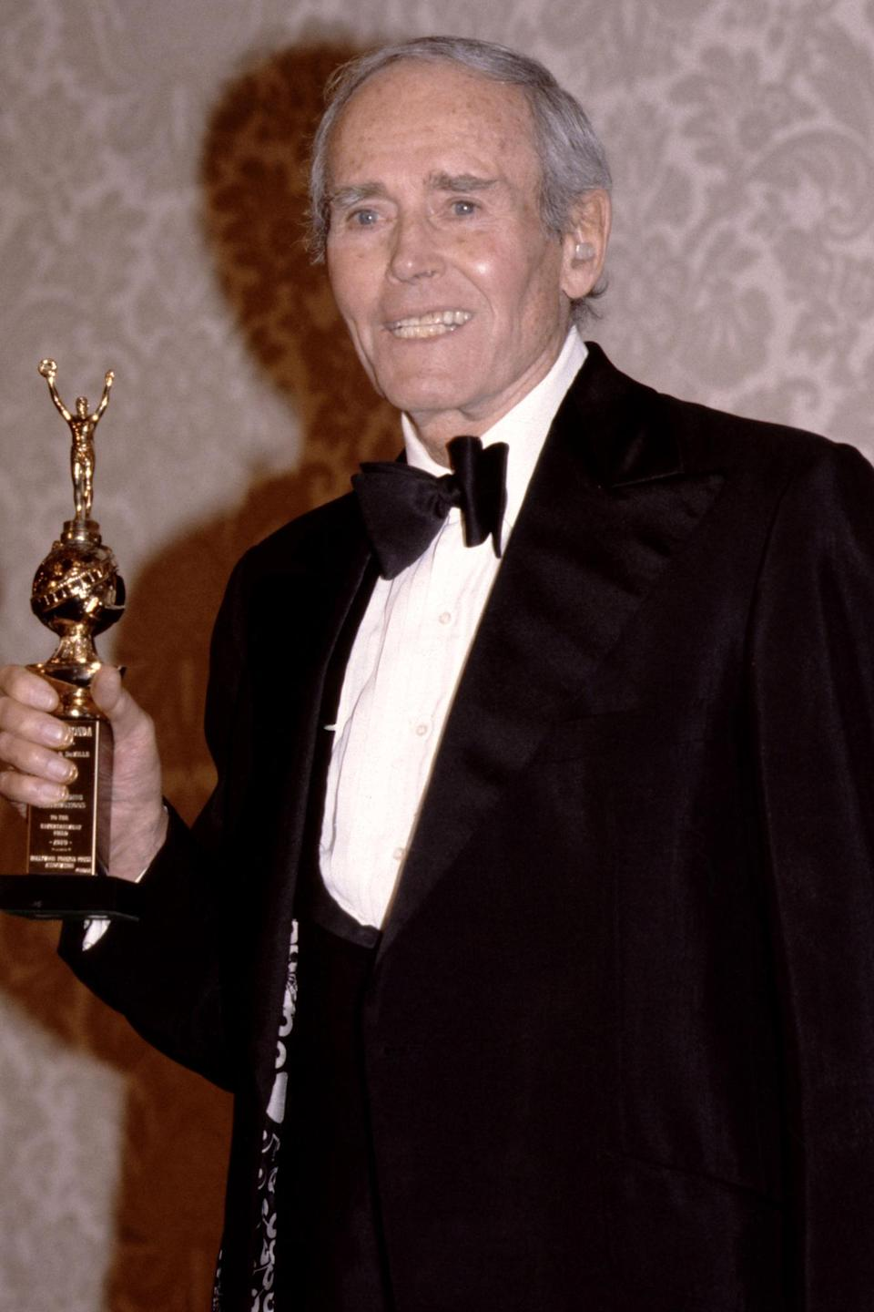 <p>Henry Fonda won the Cecil B. DeMille Award in 1980. His daughter Jane is being honored in 2021.</p>