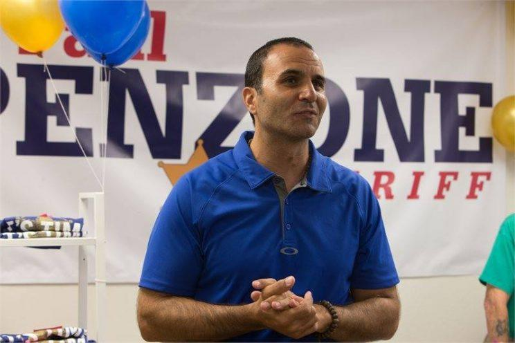 Paul Penzone campaigns in July 2016. (Photo: Paul Penzone via Facebook)