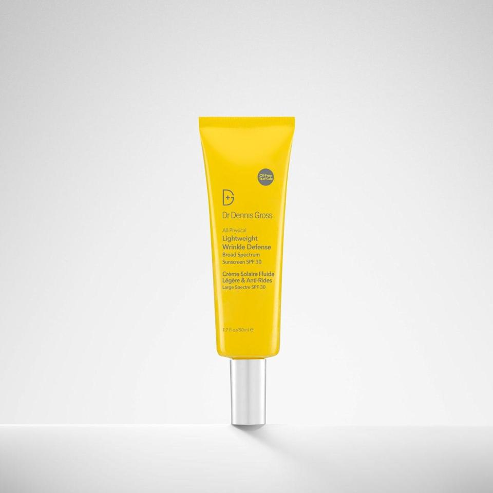 """This weightless sunscreen helps address signs of aging while preventing future sun damage and signs of aging. Lingonberry has vitamins C and E to correct signs of aging, while sea buckthorn is rich in antioxidants to prevent environmental damage. The formula rubs in in seconds, and the bright packaging will serve as a good reminder to use it every single day. $42, Sephora. <a href=""""https://shop-links.co/1736405857198427214"""" rel=""""nofollow noopener"""" target=""""_blank"""" data-ylk=""""slk:Get it now!"""" class=""""link rapid-noclick-resp"""">Get it now!</a>"""