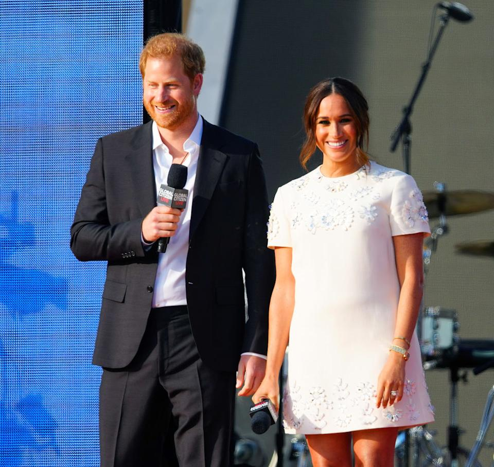 Prince Harry and wife Meghan Markle in New York