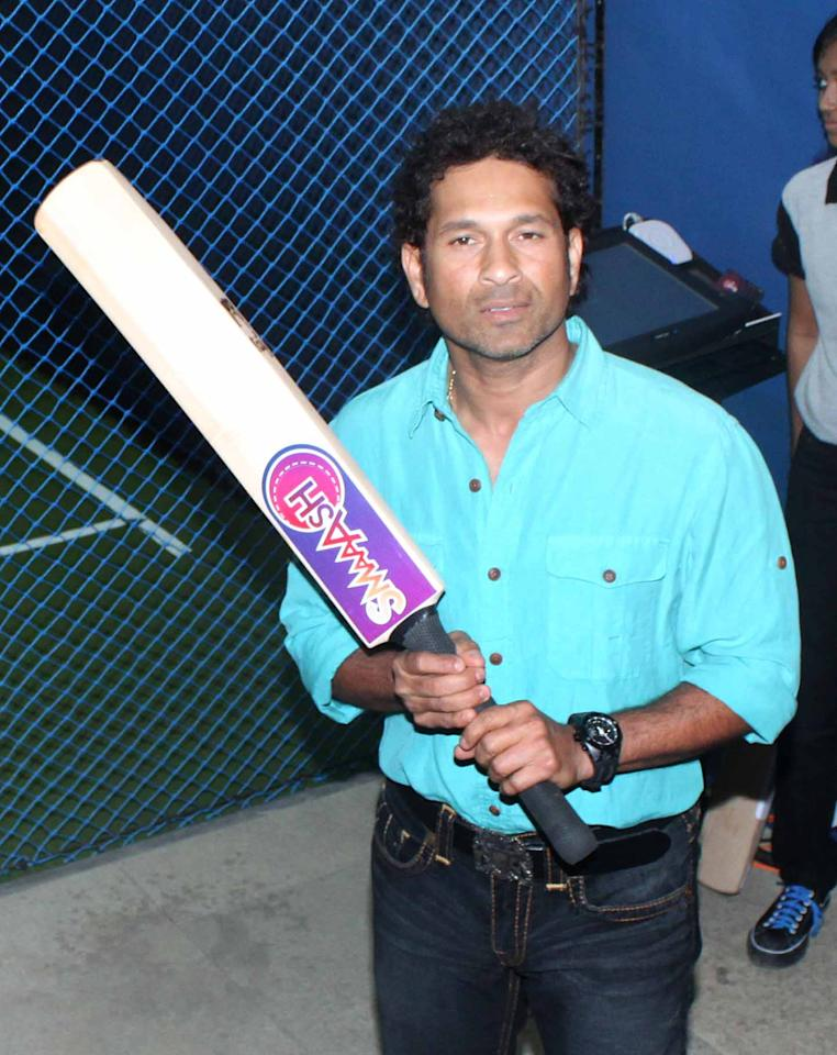 Sachin Tendulkar took time off from cricket ahead of the England series to launch Smaash Entertainment Centre with some other celebrities