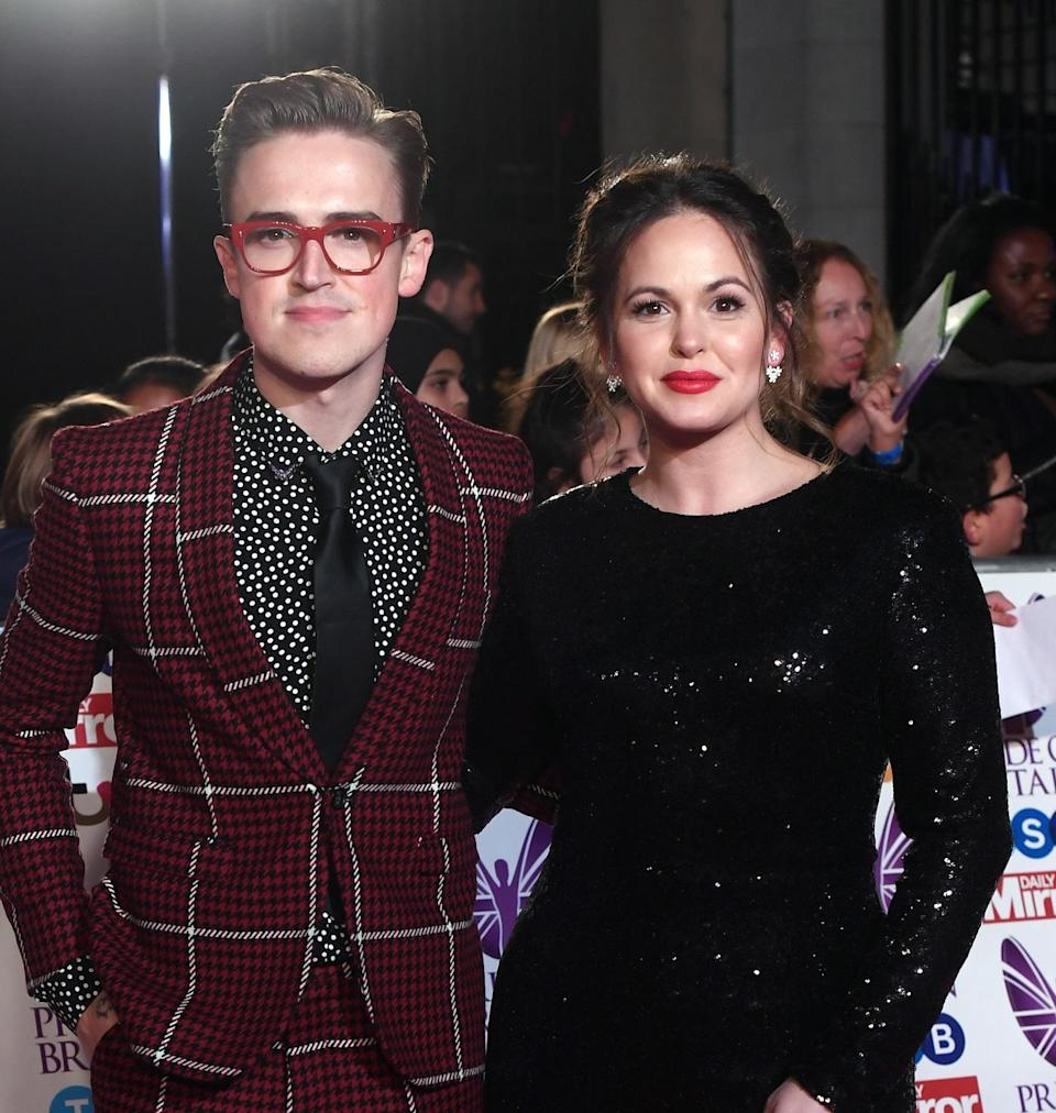 Tom's wife Giovanna, pictured, and sister, Carrie, will star in the show. Copyright: [Rex]