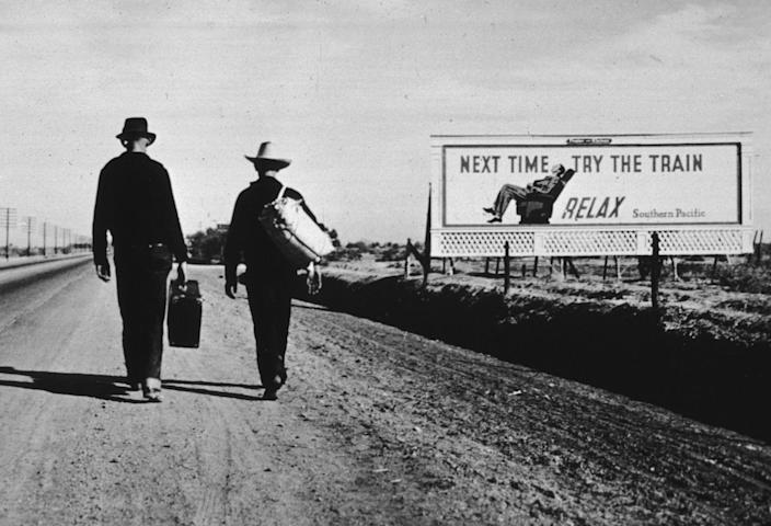 <p>About 82 years ago, you would regularly see people walking to work on foot. Nowadays, the freeways don't exactly offer such a mode of transportation. </p>