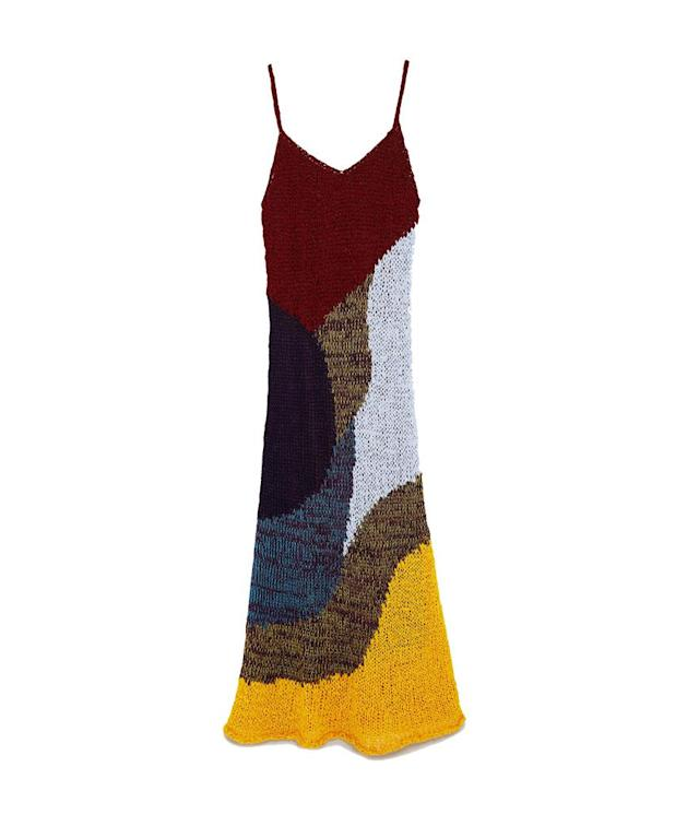 "<p>Multicolor dress, $70, <a href=""https://www.zara.com/us/en/multicolor-dress-p00021011.html?v1=6272022&v2=719020"" rel=""nofollow noopener"" target=""_blank"" data-ylk=""slk:zara.com"" class=""link rapid-noclick-resp""> zara.com</a> </p>"