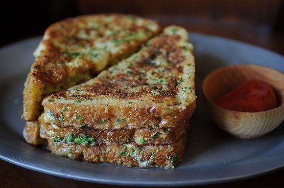 """<p><b><b>Crispy Salt and Pepper French Toast</b><br /></b></p><p>Don't let sugary french toast make you sicker. Instead try this savory version.<b> Try the <b><b><a href=""""https://www.food52.com/recipes/7030-crispy-salt-and-pepper-french-toast?utm_source=yahoofood&utm_medium=referral&utm_campaign=10hangoverhelpers"""">Crispy Salt and Pepper French Toast</a>.</b></b><i></i></b><i>(Photo: Food52)</i></p>"""