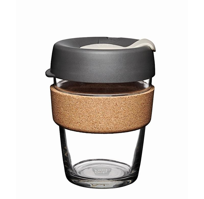 KeepCup Brew Glass Reusable Coffee Cup, 12 oz/Medium, Press