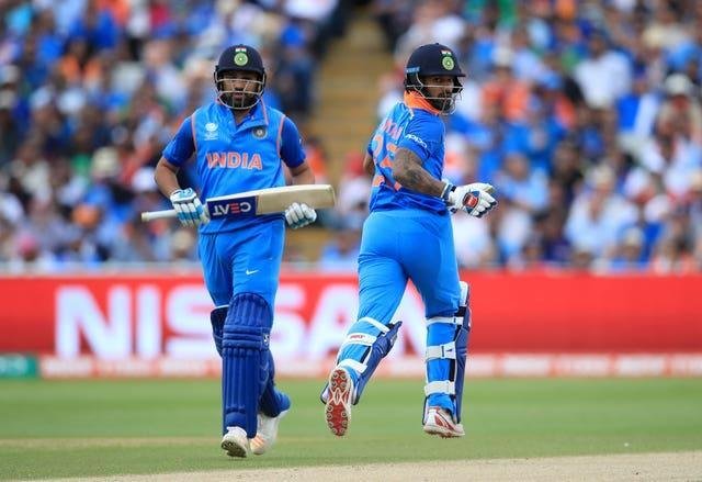 Rohit Sharma, left, and Shikhar Dhawan are poised to resume their successful opening partnership in the ODI series against England (Mike Egerton/PA)