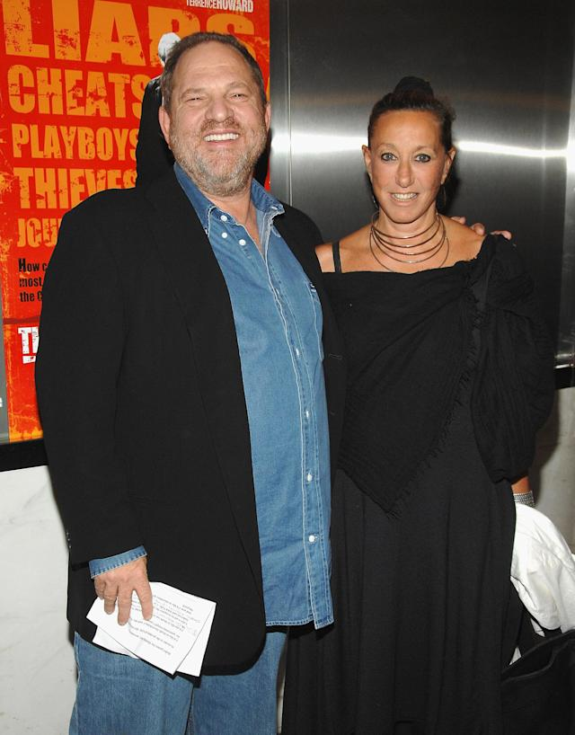Designer Donna Karan with Hollywood producer Harvey Weinstein. (Photo: Getty Images)