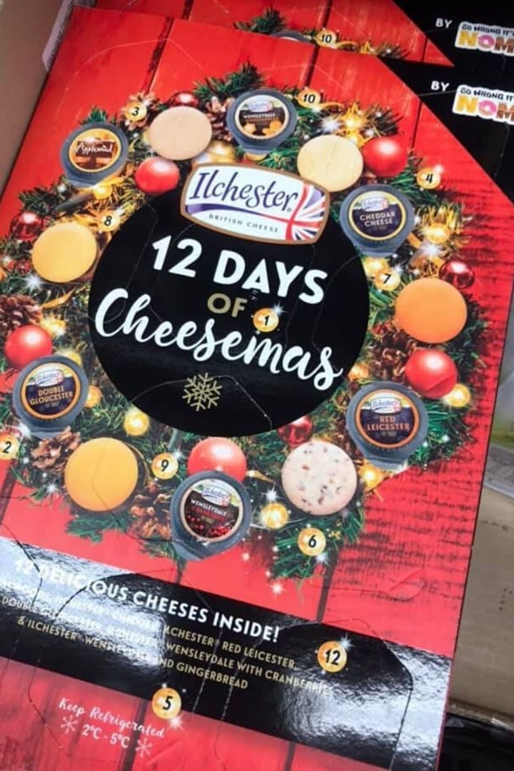 Woolworths' new cheese advent calendar costs just $16. Photo: Facebook.