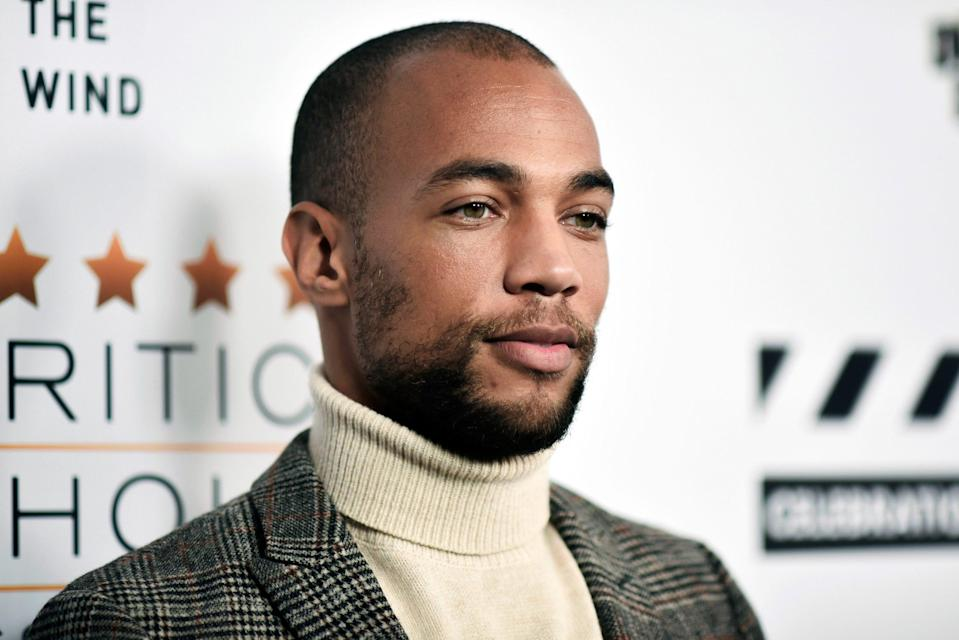 Actor Kendrick Sampson says he was hit by rubber bullets and a police officer's baton while protesting George Floyd's death.