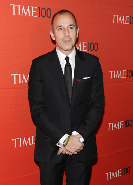 "FILE - This April 24, 2012 file photo shows NBC ""Today"" show co-host Matt Lauer attending the TIME 100 gala, celebrating the 100 most influential people in the world, at the Frederick P. Rose Hall in New York. The ""Today"" show's top producer is speaking out against stories portraying anchor Matt Lauer as being difficult to work with during the show's slide in the ratings. Executive Producer Jim Bell said Wednesday that Lauer is the heart and soul of NBC's morning news show and that negative stories about him have been hard to deal with. ""Today"" has slipped behind ABC's ""Good Morning America"" in the ratings recently, particularly since Lauer's former co-host, Ann Curry, was replaced by Savannah Guthrie. That's led to a wave of bad publicity, much of it focused on Lauer. (AP Photo/Evan Agostini, file)"