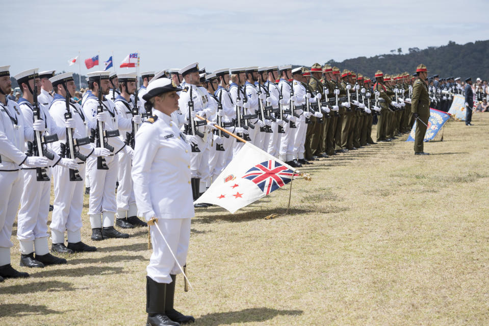 """New Zealand integrated women into the Defence Forces in 1977 and opened doors across all its defense units, which includes infantry, armory and artillery units, in 2001. In 2012, 26-year-old Lance Corporal Jacinda Baker, became the first New Zealand woman to be killed in action when she lost her life during the Battle of Baghkak by a roadside bomb. <em><strong>Image credit:</strong></em> <a href=""""https://twitter.com/NZDefenceForce/status/1225254740562329600/photo/1"""" rel=""""nofollow noopener"""" target=""""_blank"""" data-ylk=""""slk:Twitter/New Zealand Defence Force"""" class=""""link rapid-noclick-resp"""">Twitter/New Zealand Defence Force</a>"""
