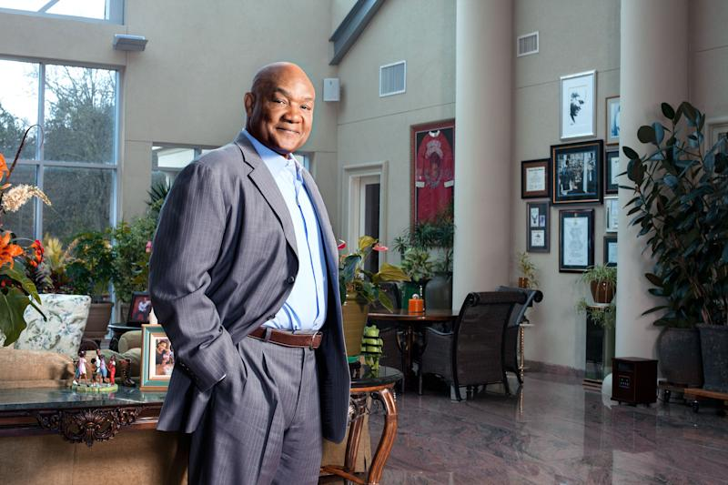 Foreman at his home, outside Houston.