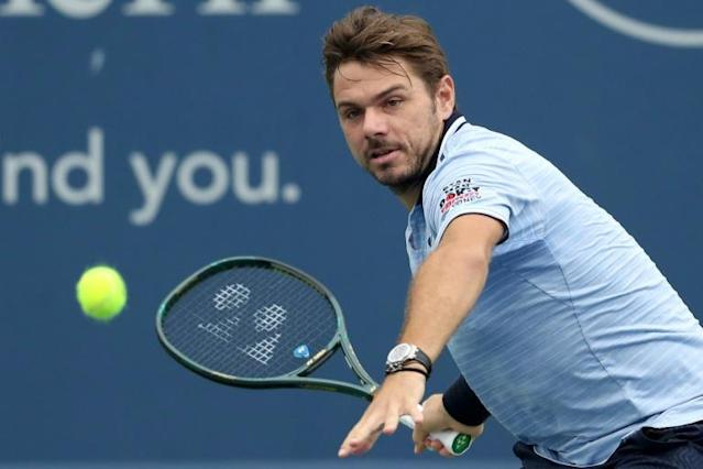 Stan Wawrinka outlasted Grigor Dimitrov in the first round in Cincinnati (AFP Photo/Rob Carr)