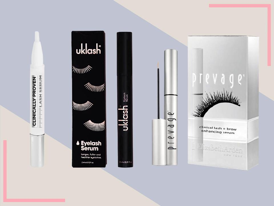 These contain growth-encouraging ingredients including vitamin E, hyaluronic acid and castor oil (iStock/The Independent)