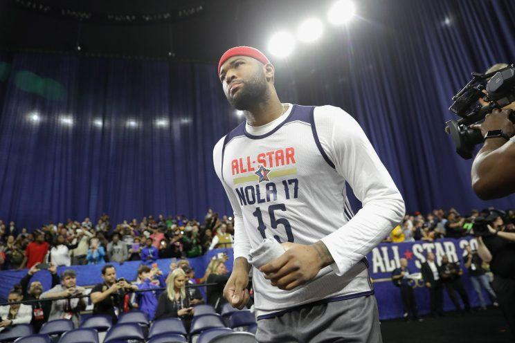 The Kings worked to finalize the trade of DeMarcus Cousins to the Pelicans during the All-Star Game last season. (Getty)